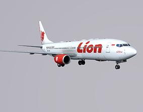 Boieng 737-800 Lion Air 3D asset