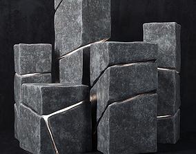 Stone cube light 3D model