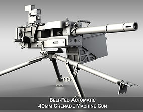3D 40mm Grenade Machine Gun