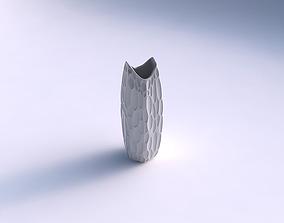 Vase double arc hexagon with bubbles 3D print model