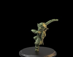 Leaping One Sword Goblin Presupported 3D print model