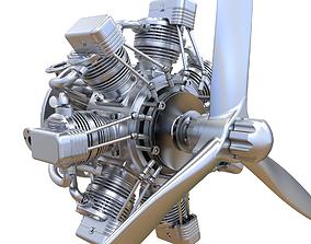 3D Aircraft Engine aero