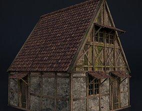 3D model OLD MEDIEVAL BUILDING 02