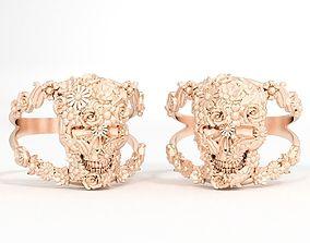 Ring skull flower 3D print model