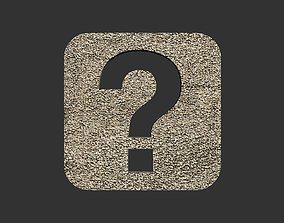 3D model Question mark logo