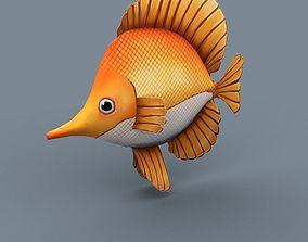 3D asset low-poly rainbow fish