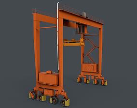 PBR Rubber Tyred Gantry Crane RTG V1 - 3D model