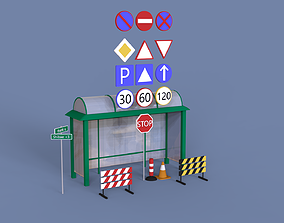 City props Assets for your scene free 3D model