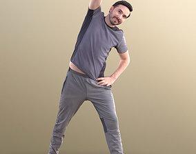 Anselmo 10225 - Stretching Sport Man 3D asset