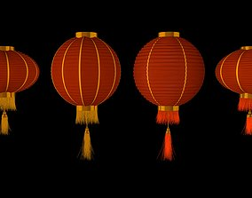 3D model Chinese red lanterns