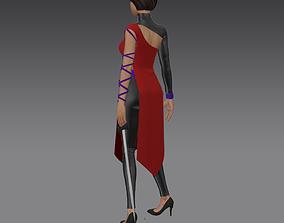 3D warrior woman game character - marvelous designer