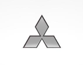 3D model realtime Mitsubishi Emblem