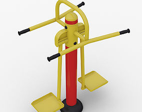 3D model Outdoor fitness Equipment Exercise double wave