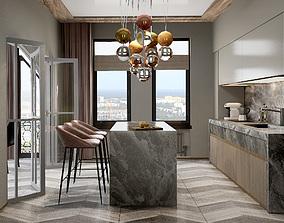 Kitchen interior 3D asset realtime