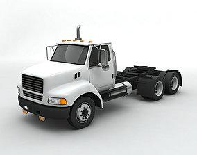3D model Semi Truck Tractor 3 Axle