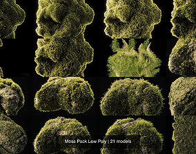 Moss Pack Low Poly 3D model