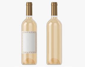 3D model Wine bottle mockup 01