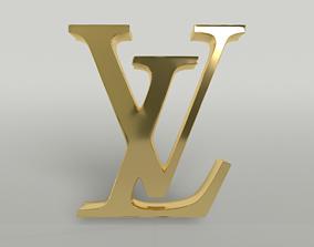 3D asset Louis Vuitton Logo 002