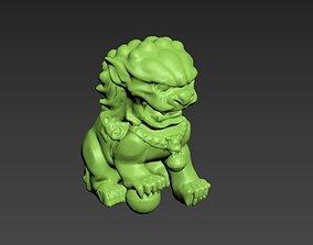 Dog 05 3D print model sculptures