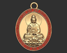 Buddha Coin Pendant Ready for 3D Print gold