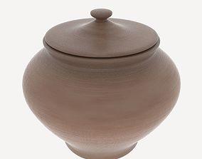 3D model Clay Pot var 1