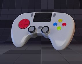 Abstract Colorful Gamepad 3D asset