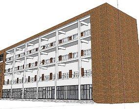Office-Teaching Building-Canteen 72 3D
