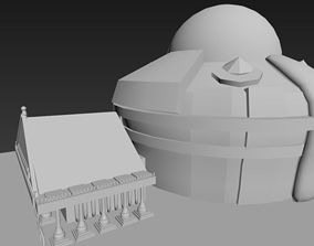 Temple 3D printable model
