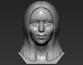 Jennifer Lawrence bust 3D printing ready stl obj formats