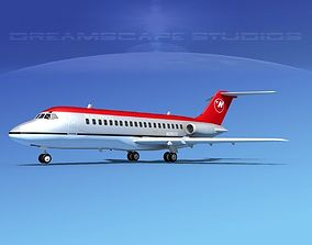 3D model Douglas DC-9-15 Northwest