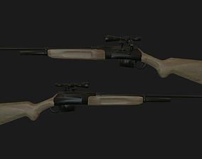Sniper rifle pbr 3D asset VR / AR ready