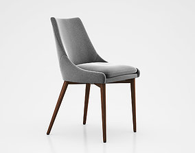 Sullivan Mid Century Dining Chair Wood Gray 3D model