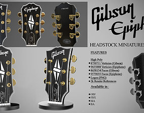 3D Gibson and Epiphone Headstock Miniatures