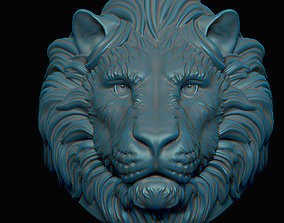 3D printable model sculpture Lion ring