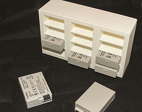 LP-E8 Battery 12 Slot Storage 3D print model