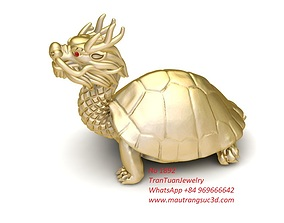 3D printable model 1892 Dragon Turtle