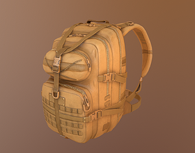 3D model game-ready Military Backpack