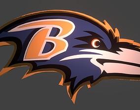 Ravens logo 3D