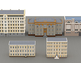 Old east european houses pack 02 3D