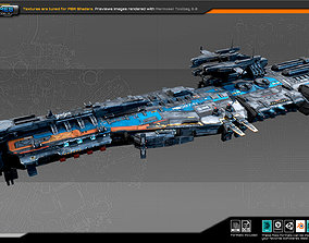 3D model SciFi Frigate G2