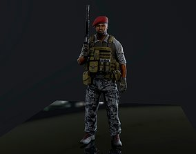 3D model animated Mercenary