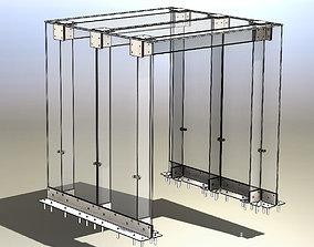 3D model Glass arch or glass visor