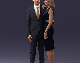 Outgoing couple 0109 3D Print Ready realistic