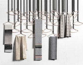 3D model Hangers with Handpicked Textiles