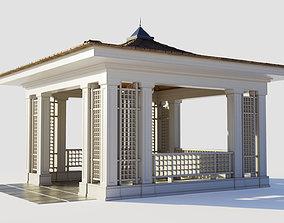 Chinese style wooden gazebo 3D model
