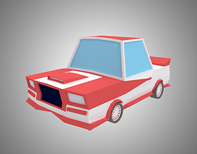 Low poly sport car 3D asset realtime