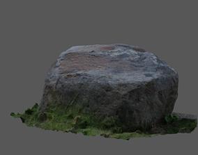3D Rock in grass