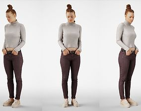 Isabel 21 Woman posed standing in casual outfit 3D model