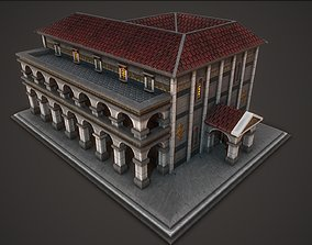 3D model Ancient Library