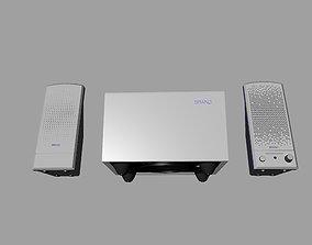 Blue and gray desktop Stereo 2-1 3D printable model